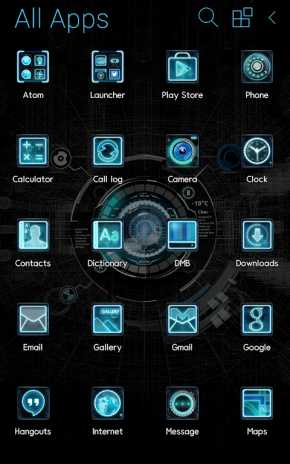 Black Mechanic Atom Theme