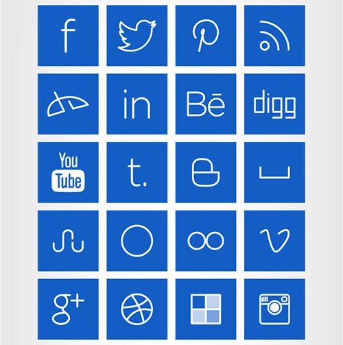 Line art icons