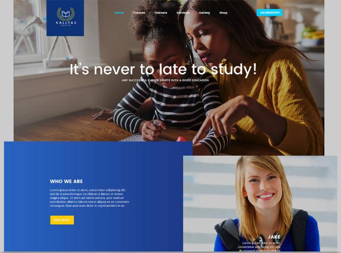 Mẫu giao diện website giáo dục.