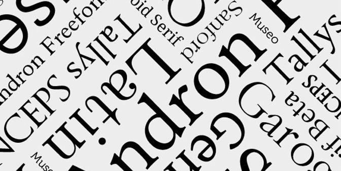 Các nhóm font chữ