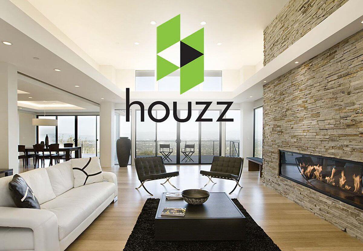 Mẫu website nội thất Houzz giúp người dùng dễ dàng lưu trữ những hình ảnh trong website của mình