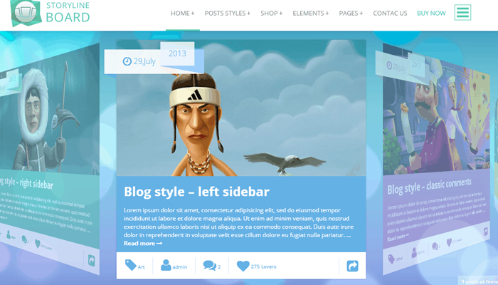Giao diện WordPress thực tế ảo - Storyline