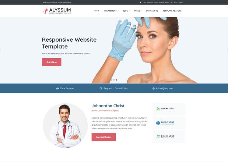 Mẫu giao diện website y tế.