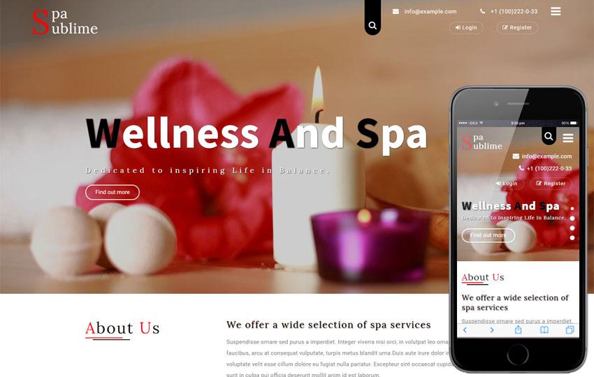 Kết quả hình ảnh cho mẫu website Spa Sublime