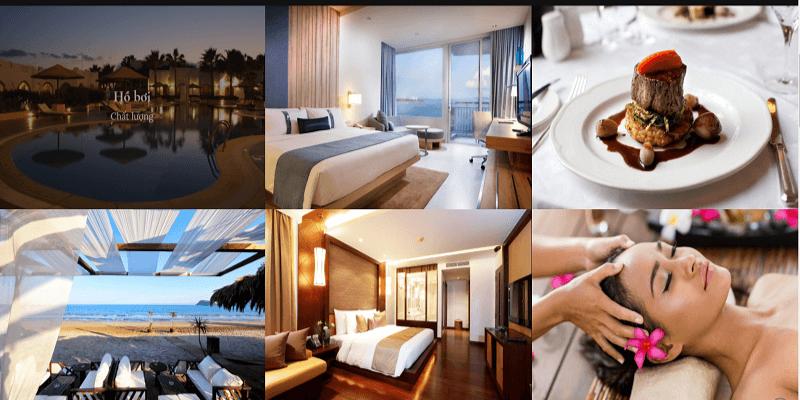 mẫu website khách sạn encore