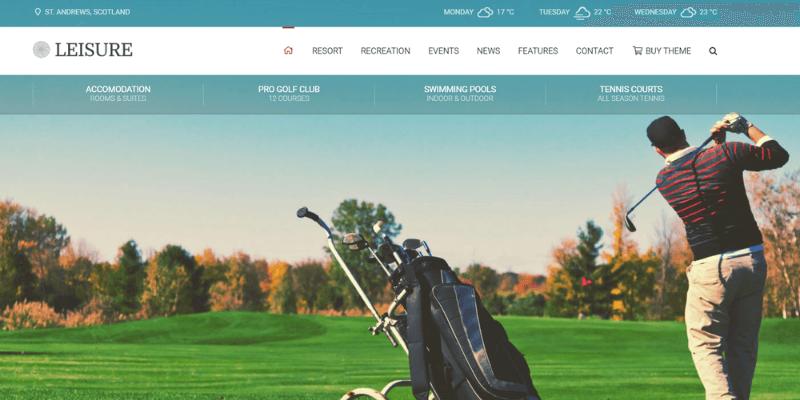 mẫu website resort leisure
